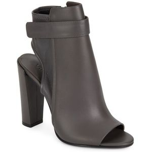 Gray Vince Ankle Strap Boots Size 7